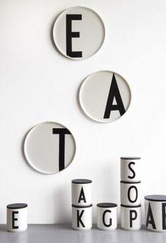Porcelæns tallerkener