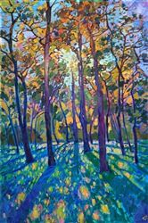 Woodlands pines original oil painting for Texas landscape art collectors, Erin Hanson Erin Hanson, Landscape Artwork, Landscape Oil Paintings, Contemporary Landscape, Landscape Lighting, Landscape Design, Landscape Rake, Dark Landscape, Landscape Fabric