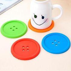 Anti-slip Rubber Button Design Home Bar Pad Mat Cushion Cup Bowl Bottle Coaster