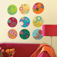 Floral Print Dots Wall Decals, $25, now featured on Fab.
