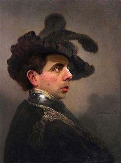 Artist Rodney Pike, uses Rowan Atkinsons' face, in clasic paintings!O Mr. Bean σε αναγεννησιακούς πίνακες | have2read