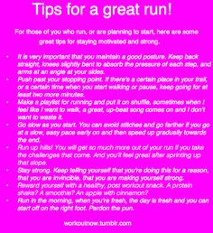 Running tips! I always start a new podcast for my run and reward myself with a strawberry protein shake at the end.