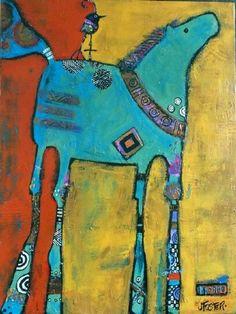 Easy Horse Drawing, Horse Drawings, Horse Artwork, Funky Art, Abstract Animals, Flash Art, Outsider Art, Art Journal Inspiration, Whimsical Art