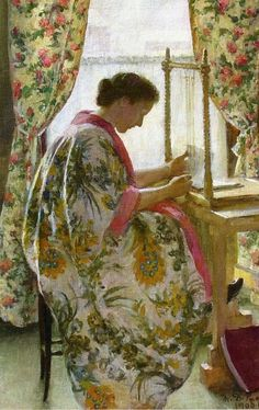 The Book Binder, Marie Danforth Page. American (1869 - 1940)