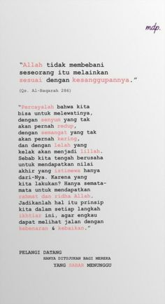 ideas for quotes indonesia menunggu Quotes Rindu, Quran Quotes, People Quotes, Mood Quotes, Life Quotes, Allah Quotes, The Words, Reminder Quotes, Self Reminder