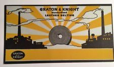Grafton And Knight Leather Belting San Franc Advertising Blotter Fish Mini Sign
