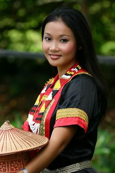 This is my tribe traditional dress... Dayak (Borneo / Indonesia, Brunei, Malaysia)