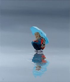 """Nigel Cox - """"The Butterfly Bag"""", 22"""" x 26', Oil on Linen . . . I love subtle reflections after a rain shower . . . I think it's time to readdress this theme."""