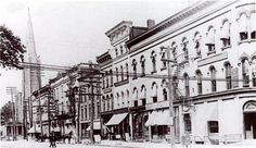 North Park Row, looking West from State to Peach Street (1900)