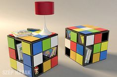 KUB+ table inspired by Rubik's cube