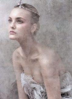 """Flight of the Fancy""; Caroline Trentini by Arthur Elgort for Vogue US."