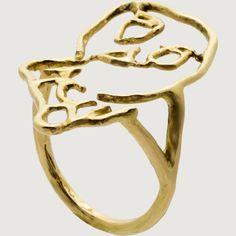 TOTENTANZ RING BY CLAUDE LÉVÊQUE  France, 2015  Eighteen-carat gold