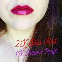 2x Blu Red & 1x Purple Reign LipSense #lipsense #blured #purplereign Distributer #328364 Love Your Lips by Allison Rafie Follow me on Instagram @luvurlips www.facebook.com/groups/loveyourlipsbyallisonrafie