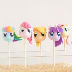My Little Pony cake pops by Letterpress Bakery (@letterpressbakery)