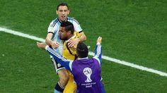 Finalistas... 9 julio de 2014 ... Mundial Brasil 2014... Semifinal Argentina vs Holanda. Estadio Arena Corinthians. San Pablo.