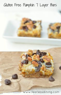 If you are craving pumpkin, what better way to enjoy it than to have a gluten free pumpkin seven layer bar? These have almond flour mixed in to add protein.