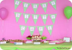 Strawberry Shortcake Birthday Party Berry Bitty Cafe