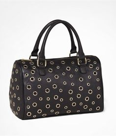 Womens Grommeted Satchel Bag Black From Express On Catalogspree Your Personal