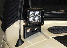FJ Cruiser Front Cowl Light Brackets [PFJC-COWL-AUX-LIGHT-MOUNT] - $120.00 : Pure FJ Cruiser Accessories, Parts and Accessories for your Toyota FJ Cruiser
