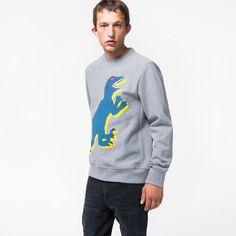 c5c746d562d9e Paul Smith Men s Grey Marl Organic-Cotton  Dino  Print Sweatshirt (145 CAD