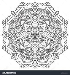 Flower Mandalas. Vintage Decorative Elements. Oriental Pattern, Vector Illustration. Islam, Arabic, Indian, Turkish, Pakistan, Chinese, Ottoman Motifs. Vector Illustration - 457855591 : Shutterstock