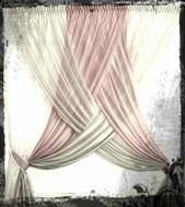 Gorgeous sheer curtains in two Colors overlapping Two-toned criss-cross curtains Omg so elegant and gorgeous!