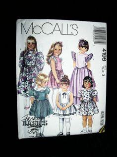 1989 Vintage McCalls 4198 Children Girls Gown by TheSewingDen, $6.00
