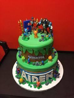 Angel Maid Bakery - Los Angeles, CA, United States. Aiden's slugterra themed cake. My son LOVED it!