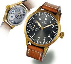 Steinhart Nav B 44 handwinding bronze Pilot Watch Unitas 6497 mov't 30m, 44 mm. €395 MSRP
