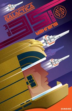 Geek Art Gallery: Posters: BattleStar Art Deco