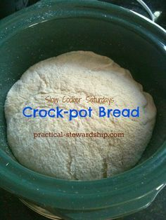 Crock-pot Homemade (Sourdough) Bread Recipe - Practical Stewardship I tried this with GF bread dough and it worked great! My bread actually doubled in size for the first time! Crock Pot Brot, Crock Pot Slow Cooker, Crock Pot Cooking, Slow Cooker Recipes, Cooking Recipes, Crock Pot Pizza, Cooking Bacon, Sourdough Recipes, Sourdough Bread