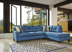Sydney Sectional only $1699 including tax & free local delivery! #sofa #palluccifurniture http://www.palluccifurniture.ca/sydney-left-facing-sectional-blue-fabric/
