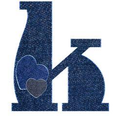 Alfabeto vaquero de corazones...k  minuscula