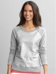 Fun sequin sweatshirt from Banana Republic. If you ask anyone who knows me well, they will tell you, I have a serious thing for sequins. $59.50 #sparkly