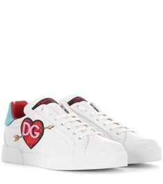 DOLCE  amp  GABBANA Embellished Leather Sneakers.  dolcegabbana  shoes   sneakers Dolce Gabbana 2901971006a