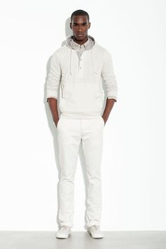"""Only if your skin is dark you can sport an """"all-white"""" outfit... I wouldn't dare... DKNY S/S 2012 lookbook"""