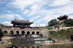 수원 화성 화홍문과 동북각루