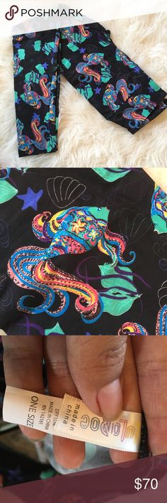 c86c6e7cf52a82 LuLaRoe OS Beta Fish Leggings LuLaRoe brand leggings! Absolutely beautiful,  Beta fish on black