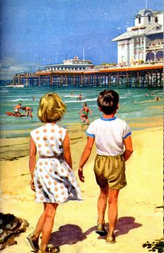Ladybird books. At the seaside. #illustration #books #children