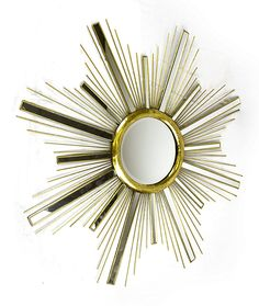 Sleek metal rods and mirrored panels radiate from the center of the Sagebrook Home Star Wall Mirror to create a starburst statement piece for your. Gold Starburst Mirror, Traditional Mirrors, Star Wall, Wall Mirror, Contemporary, Stars, Metal, Home Decor, Products