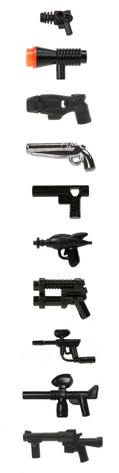 how to make a lego machine gun for minifigs