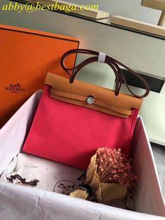 5c89ca83afde Hermes Canvas and Leather Herbag Zip 31cm Bag Longchamp
