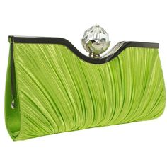 Designer Clothes, Shoes & Bags for Women Green Clutches, Green Purse, Shades Of Green, Fashion Handbags, Crystal Beads, Clutch Bag, Purses, Clothes For Women, My Style