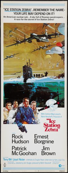 """High resolution poster from """"Ice Station Zebra"""" at 1179x3000 pixels"""