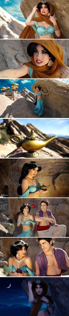 Princess Jasmine & Aladdín || Aladino