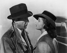 "Humphrey Bogart and Ingrid Bergman in""Casablanca""."