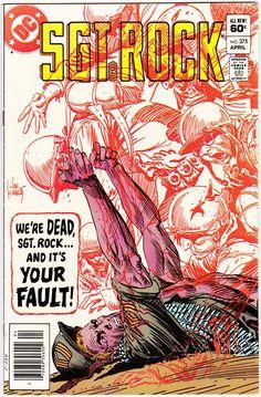 Rock (Apr cover by Joe Kubert. Comic Books For Sale, Dc Comic Books, Vintage Comic Books, Vintage Comics, Comic Book Covers, Retro Vintage, Star Comics, Old Comics, Marvel Comics