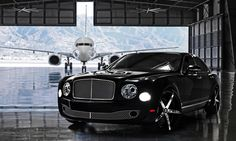 Lexani Wheels, the leader in custom luxury wheels.  The 2013 Bentley Mulsanne on Chrome R-Four wheels, with a black lip.