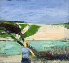 """Richard Diebenkorn (USA 1922-1993) Landscape with Figure (1963). """