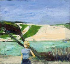 """""""Richard Diebenkorn (USA 1922-1993) Landscape with Figure (1963). """""""